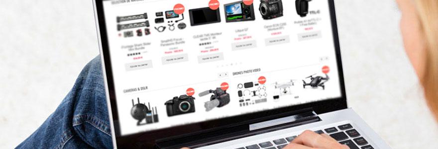 Achat de materie audio visuel en ligne